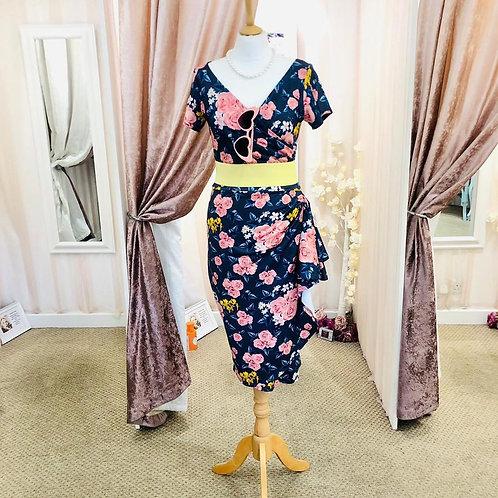 Lyra waterfall wiggle dress