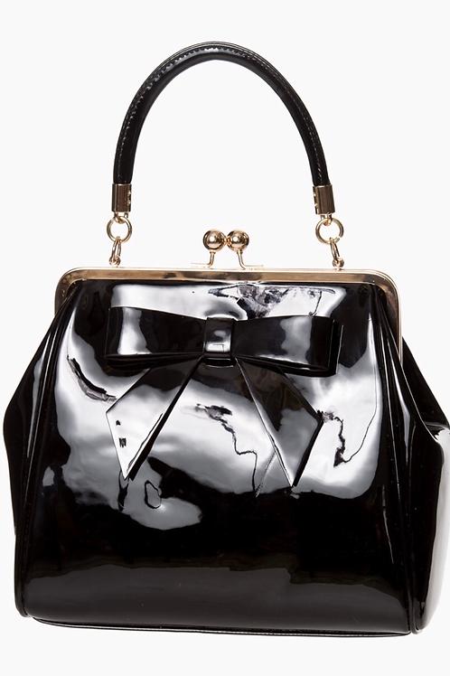Black Patent Bow Bag