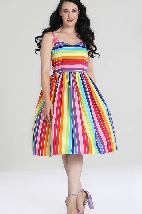 Aurora Rainbow Swing Dress