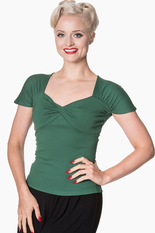 Forest Green Twisted Top