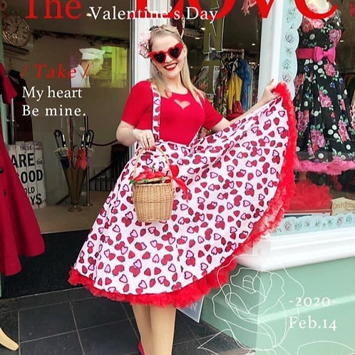 Sydney Strawberry Pinafore Skirt