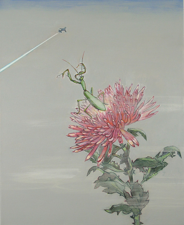 Chrysanthemum and Praying Mantis