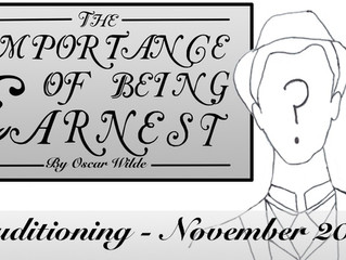 Audition Alert - The Importance of Being Earnest