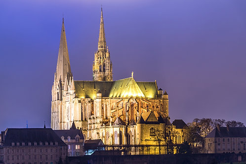 """TABLEAU   France """"Cathédrale de Chartres"""""""