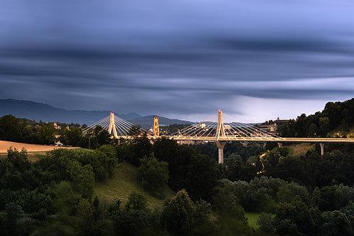 """TABLEAU   Fribourg """"Armonie au Pont de la Poya"""""""
