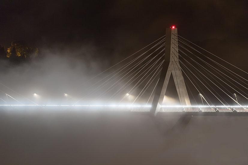"TABLEAU | FRIBOURG ""Brouillard au Pont de la Poya"""