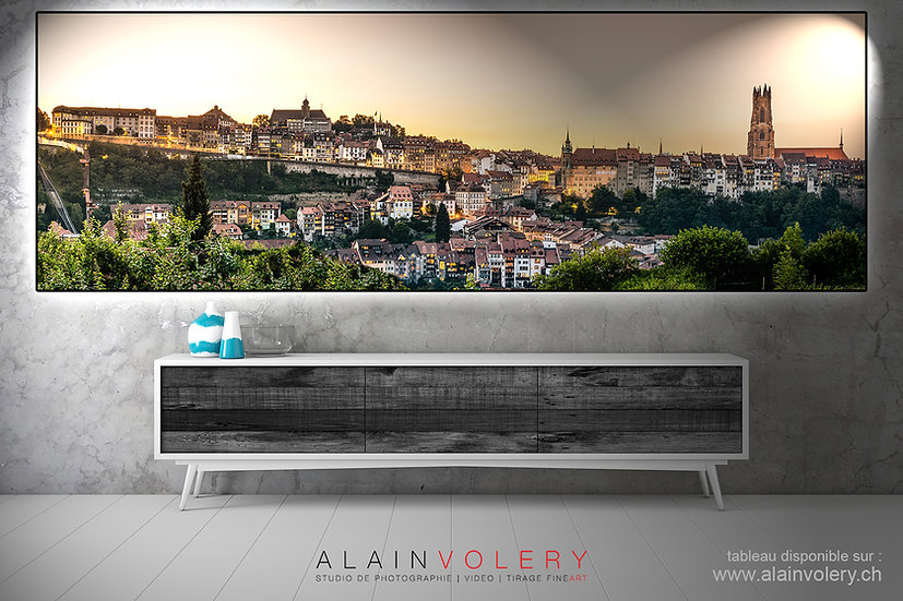"TABLEAU | Fribourg - ""SUNSET PANORAMA"""