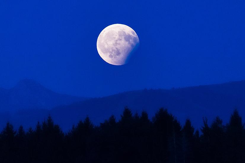 """TABLEAU   ESPACE """"Lune bleue"""""""