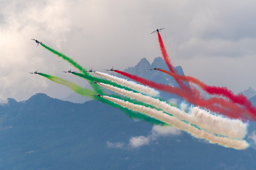 """TABLEAU   AVIATION """"Patrouille Italienne"""" III"""