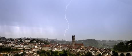 Fribourg sous l'éclair