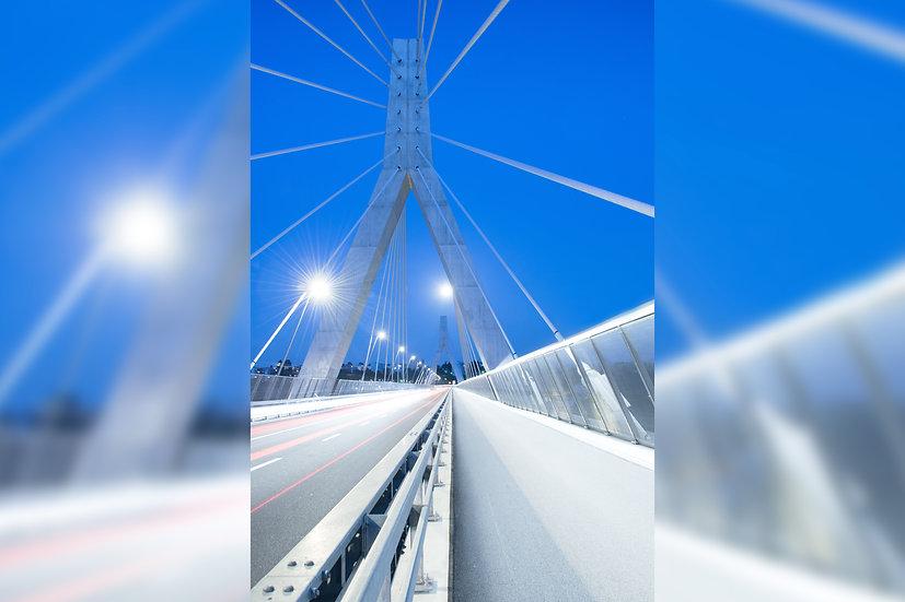 """TABLEAU   FRIBOURG """"L'Heure Bleue du Pont de la Poya"""""""