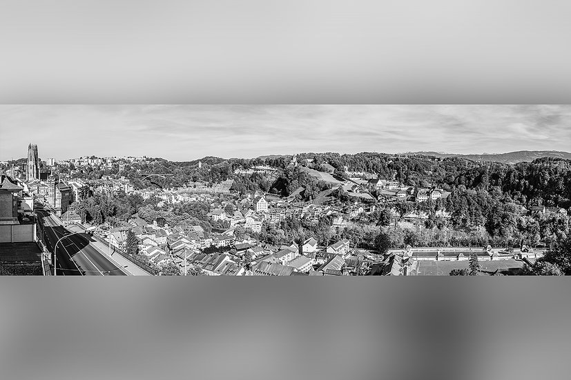 """TABLEAU   FRIBOURG """"Route des Alpes Panorama"""""""