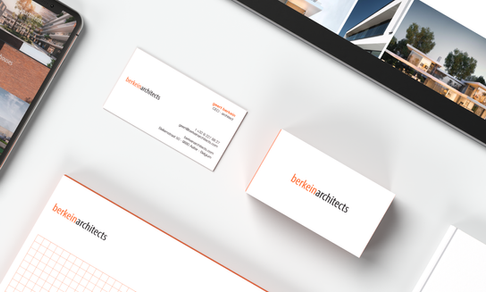 Berkein Architects stationery graphic design