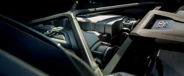 Audi R8 racing track gray interior detail engine