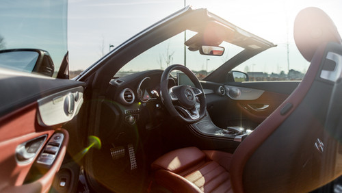 MERCEDES C43 AMG leather interior brown