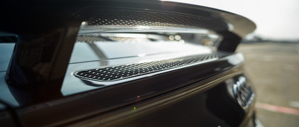 Audi R8 racing track gray back