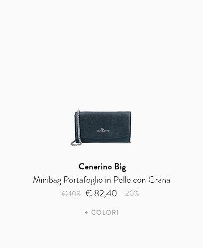 Minibag Portafoglio in Pelle con Grana