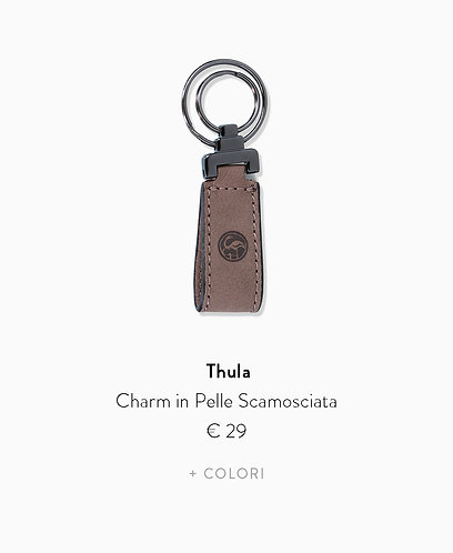 Charm in Pelle Scamosciata