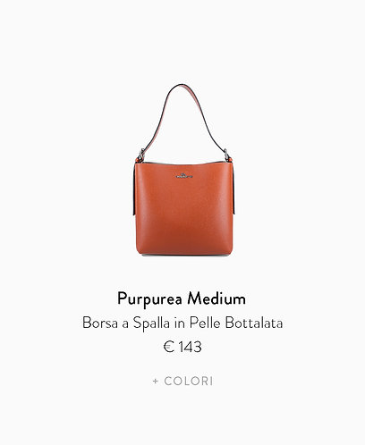 Borsa a Spalla Medium in  Pelle Bottalata