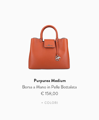 Borsa a Mano Medium in  Pelle Bottalata