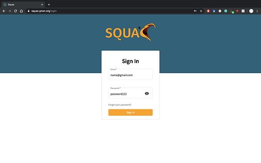 working version - login screen