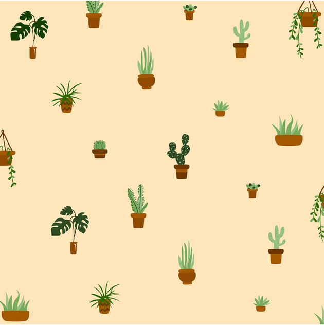Plant pattern cream