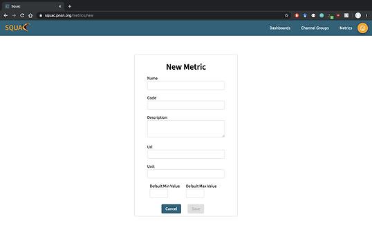 working version - metric creation