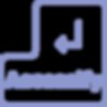 logo in periwinkle