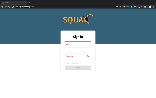 working version - login screen error with entries