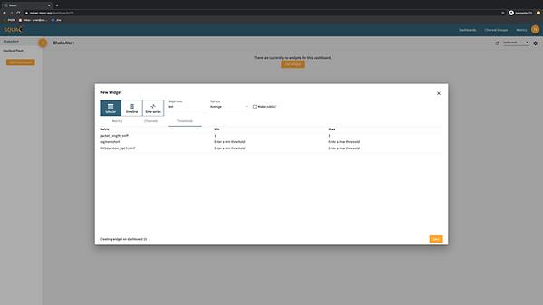 working version - widget creation thresholds