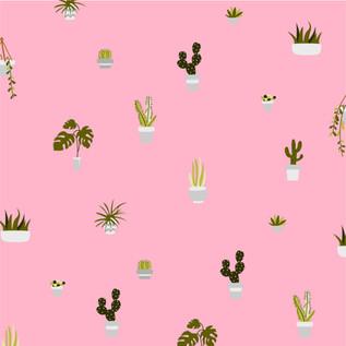 Plant pattern pink