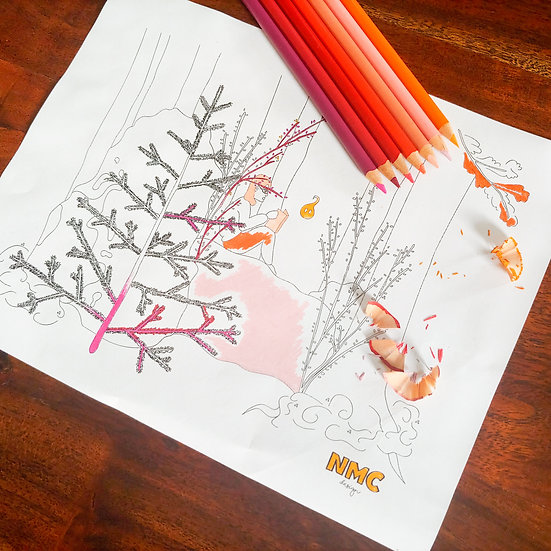 Forest Storytime Coloring Sheet