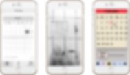 wireframes of simple app, plant app, and detective app