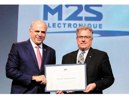 M2S Électronique récolte une Grande Mention lors des Prix Performance Québec