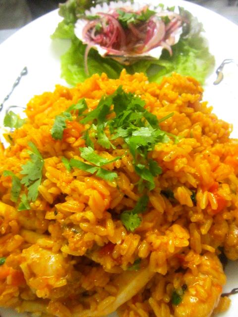Seafood rice.