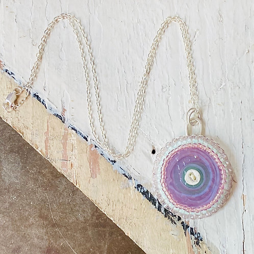 Bead Embroidered - Solo Lavendar