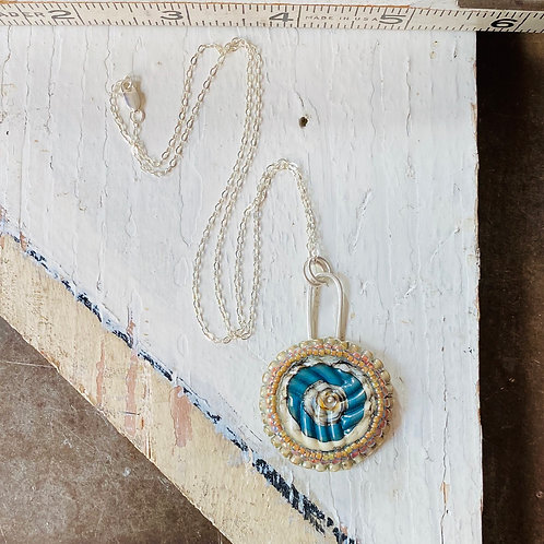 Bead Embroidered - Solo Turquoise