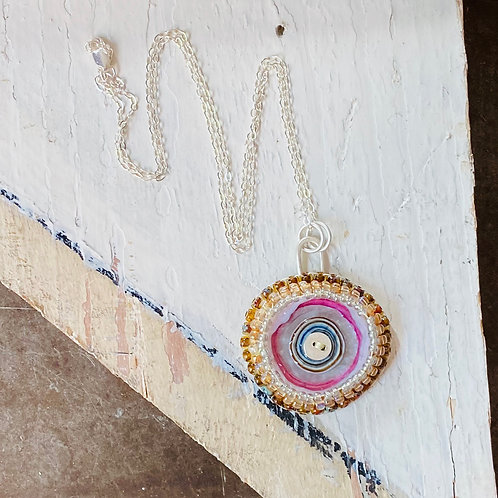 Bead Embroidered - Solo Pink