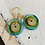 Thumbnail: Art Glass and Gold Earrings - Blue and Tab