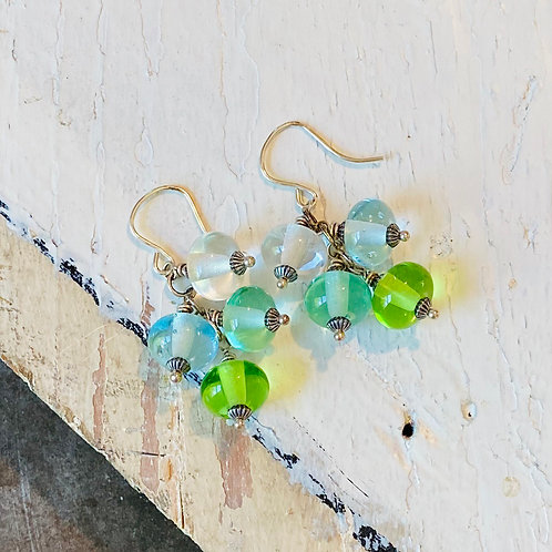 Mini Glass Globe Earrings