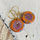 Thumbnail: Art Glass and Gold Earrings - Pink and Orange