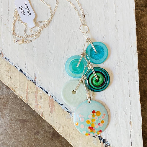Glass Bead Necklace - Speckles
