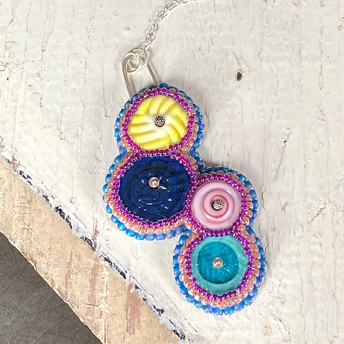 Bead Embroidered - Bright Four