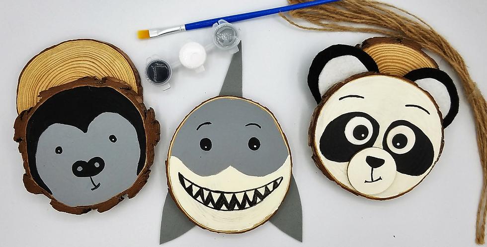 Endangered Species Wood Slice Painting Kit