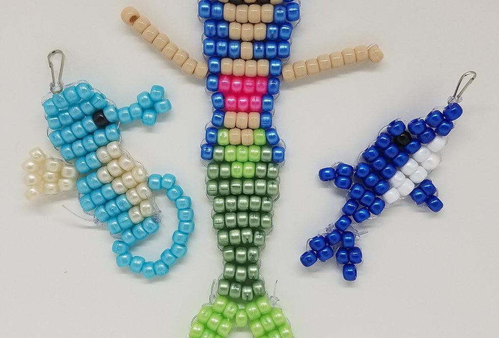 DIY Mermaid Beads Craft Kit - Light Skin Tone