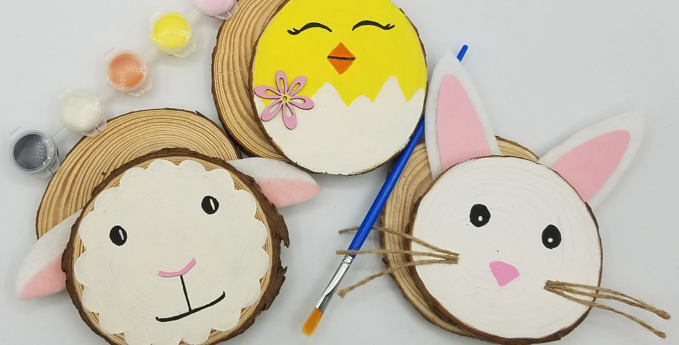 Easter Craft, DIY Spring Wood Slice Painting Craft Kit