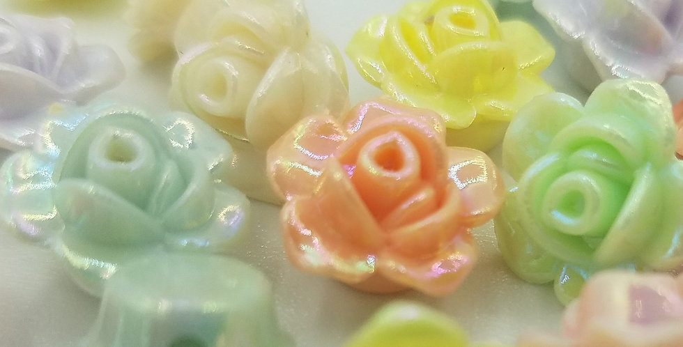 25 Rose Flower Beads