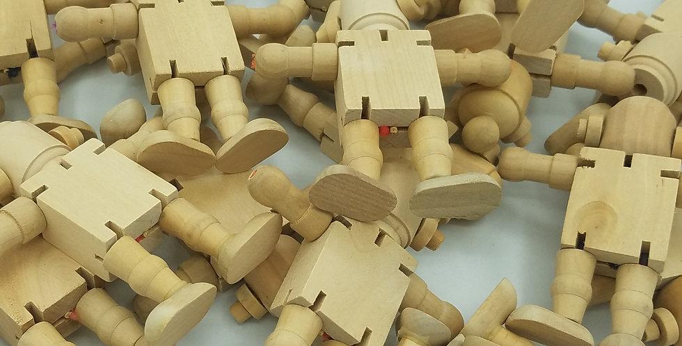 """B"" Grade Wooden Robot Dolls"
