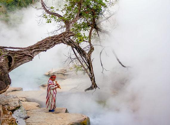 Ecotourism Peruvian Amazon - The Boiling River - Local shaman in Puerto Inca, Huanuco, Peru