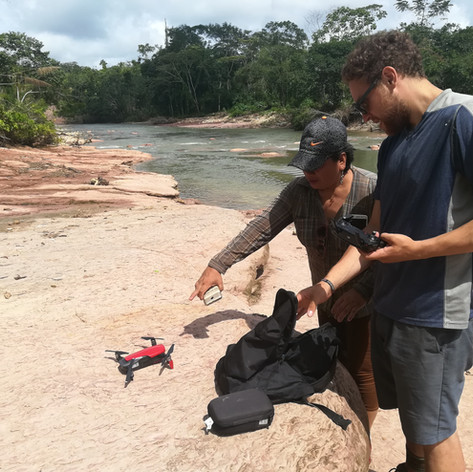 Taking videos with drone